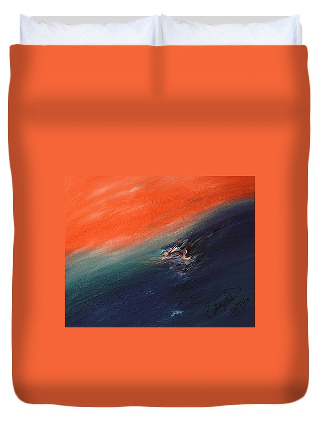 Duvet Cover featuring the painting Masterpiece Collection by Brenda Basham Dothage