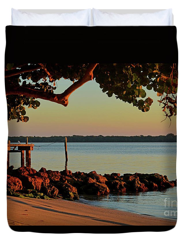 Duvet Cover featuring the photograph 24- Morning In North Palm Beach by Joseph Keane