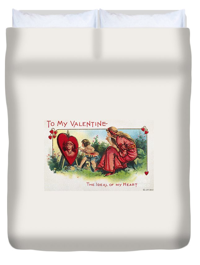 1917 Duvet Cover featuring the photograph Valentines Day Card by Granger