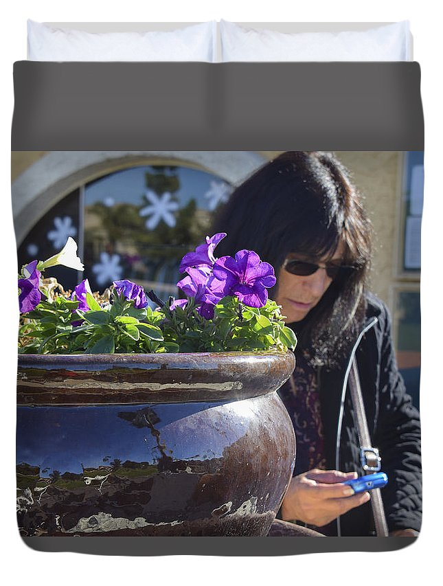 Veteran Duvet Cover featuring the photograph Glory by Marit Runyon