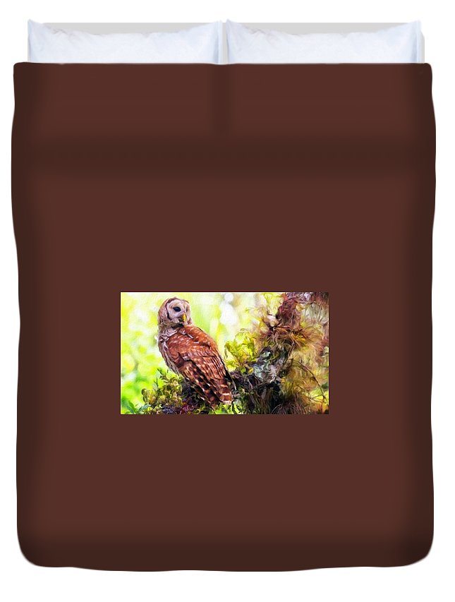 Landscape Duvet Cover featuring the painting Landscape Nature by World Map