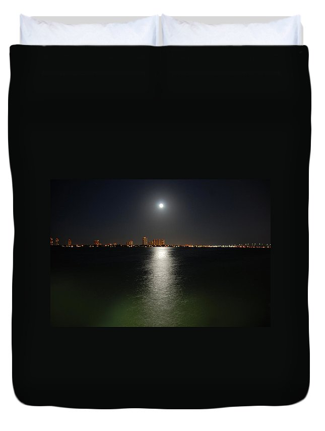 Moon Duvet Cover featuring the photograph 3- Reflections by Joseph Keane