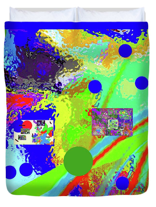 Walter Paul Bebirian Duvet Cover featuring the digital art 3-13-2015labcdefghij by Walter Paul Bebirian