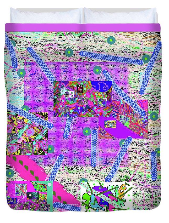 Walter Paul Bebirian Duvet Cover featuring the digital art 3-15-2015eab by Walter Paul Bebirian