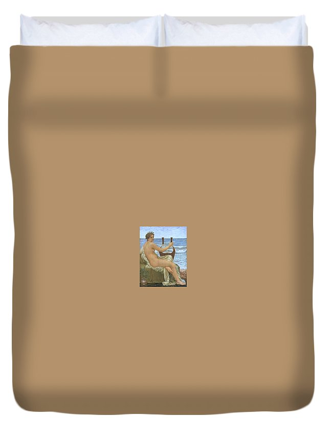 Maillot Duvet Cover featuring the digital art 31065 Henry Holiday by Eloisa Mannion