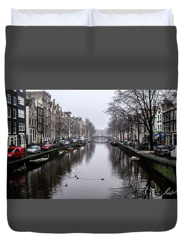 Amsterdam Duvet Cover featuring the photograph Amsterdam by Fabio Seda