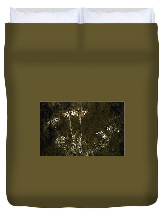 Flowers Duvet Cover featuring the photograph Black Eyed Susans by Jim Vance