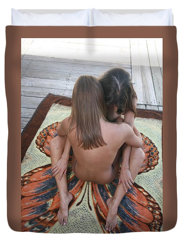 Glamorous Nudes Natural Settings Duvet Cover featuring the photograph Butterfly by Lucky Cole