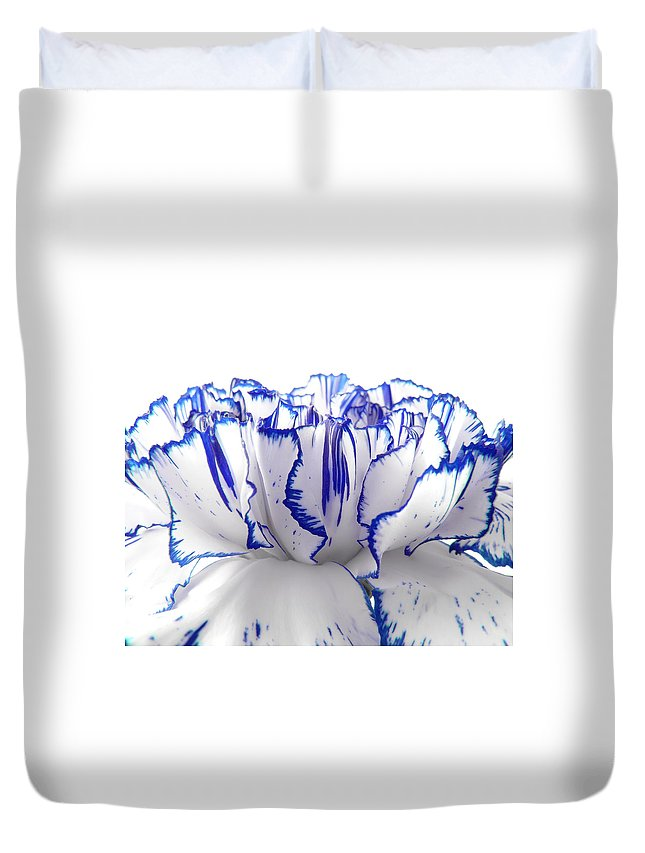 Carnation Duvet Cover featuring the photograph Carnation by Daniel Csoka