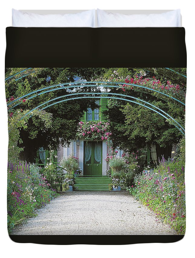 Giverny Duvet Cover featuring the photograph Claude Monet's Garden At Giverny by French School