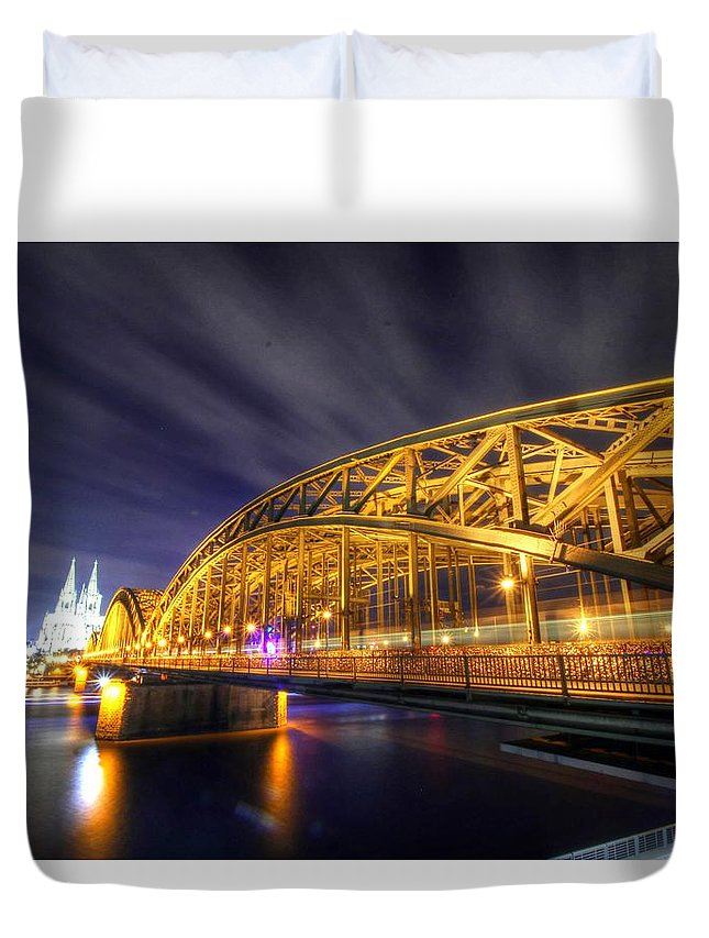 Cologne Germany Duvet Cover featuring the photograph Cologne Germany by Paul James Bannerman