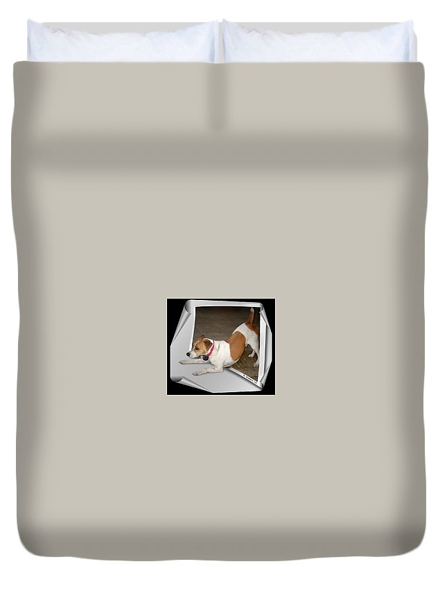 2d Duvet Cover featuring the photograph Feeling Frisky by Brian Wallace