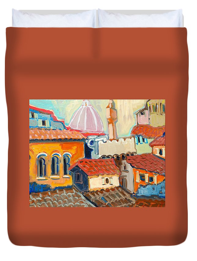 Italy Duvet Cover featuring the painting Florence by Kurt Hausmann