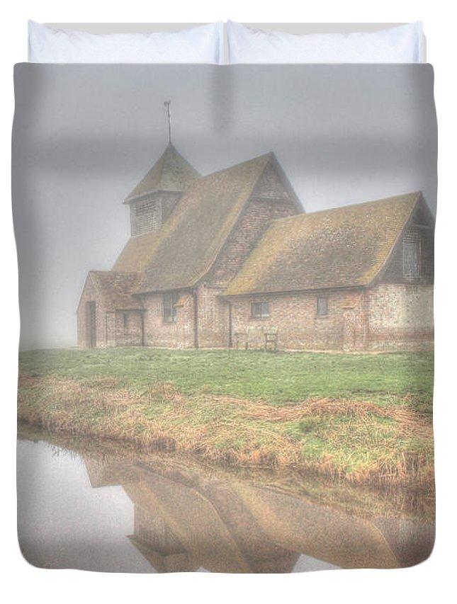 Foggy Fairfield Duvet Cover featuring the photograph Foggy Fairfield by Dave Godden
