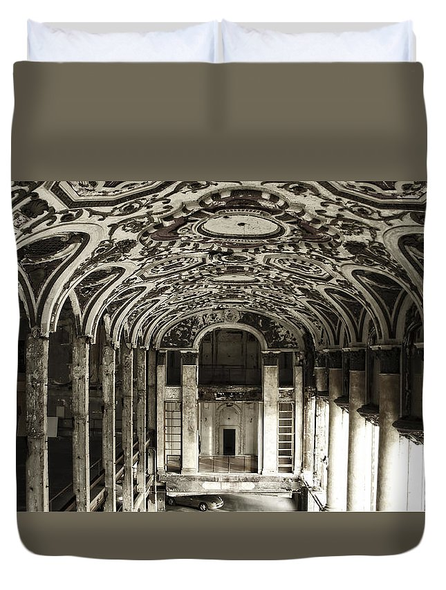 Michigan Theater Duvet Cover featuring the photograph Grand Entrance by Chris Fleming
