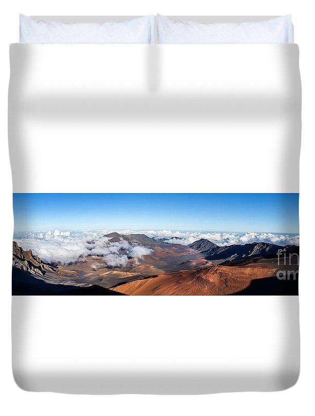 Haleakala Duvet Cover featuring the photograph Haleakala Crater by Mariusz Blach