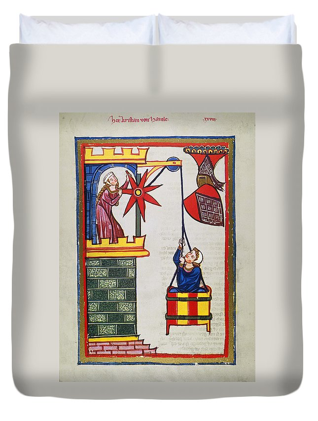 14th Century Duvet Cover featuring the photograph HEIDELBERG LIEDER, 14th C by Granger