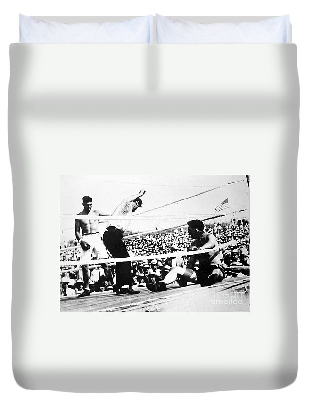 1919 Duvet Cover featuring the photograph Jack Dempsey (1895-1983) by Granger