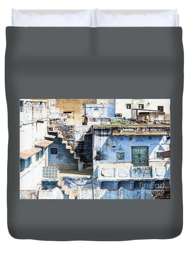 Ancient Duvet Cover featuring the photograph Jodhpur Blue City by Didier Marti