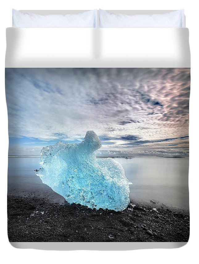 Jokulsarlon Duvet Cover featuring the photograph Jokulsarlon - Iceland by Joana Kruse