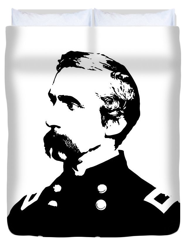 General Chamberlain Duvet Cover featuring the digital art Joshua Lawrence Chamberlain Graphic by War Is Hell Store