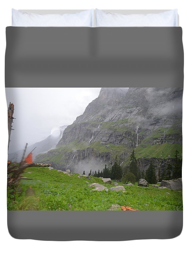Himalayas Duvet Cover featuring the photograph Khagemusha by Debrah Huber