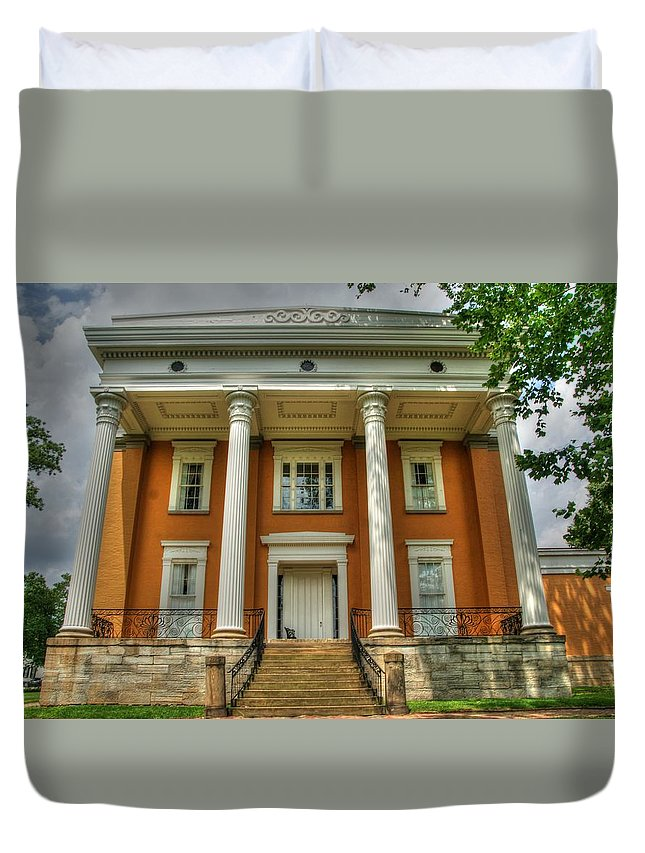 History Duvet Cover featuring the photograph Lanier Mansion by Paul Lindner