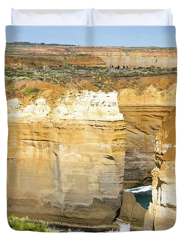 Aussie Duvet Cover featuring the photograph Loch Ard Gorge by Andrew Michael