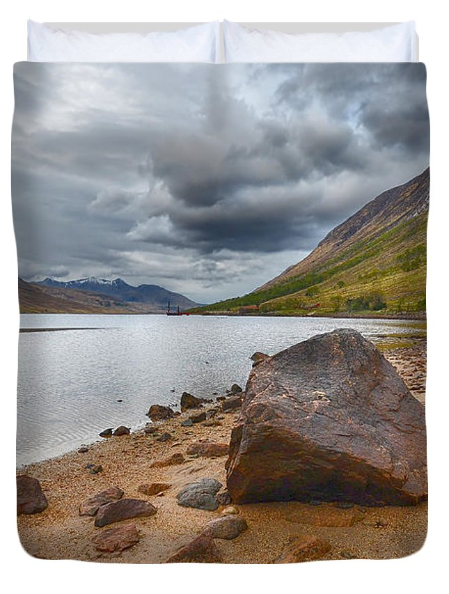Loch Etive Duvet Cover featuring the photograph Loch Etive by Smart Aviation