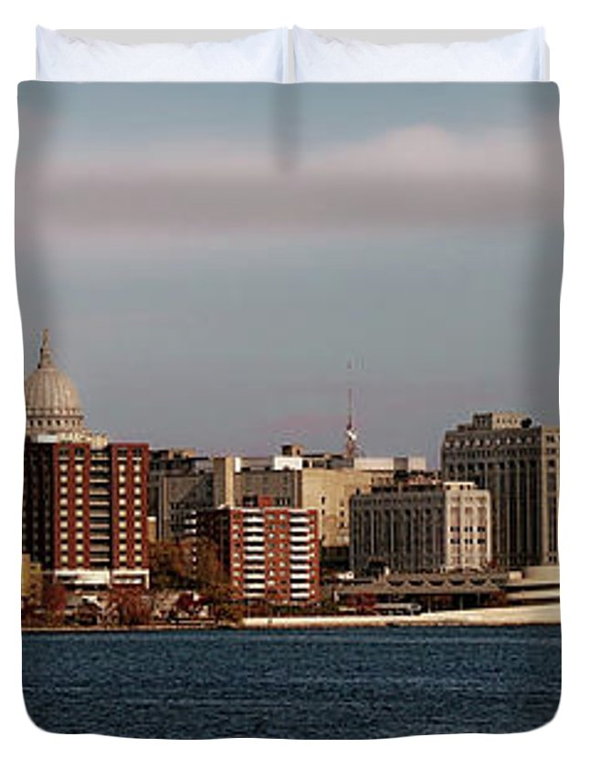 Madison Duvet Cover featuring the photograph Madison Wisconsin by Tommy Anderson