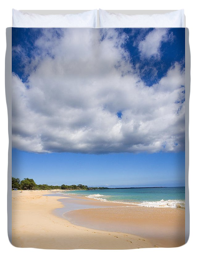 Afternoon Duvet Cover featuring the photograph Makena Beach by Ron Dahlquist - Printscapes