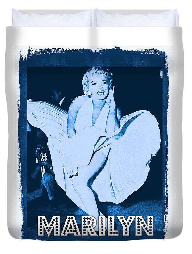 Hollywood Duvet Cover featuring the photograph Marilyn Monroe by John Springfield