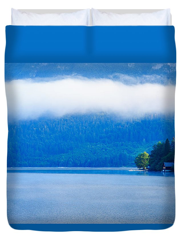 Bohinj Duvet Cover featuring the photograph Morning At Lake Bohinj In Slovenia by Ian Middleton
