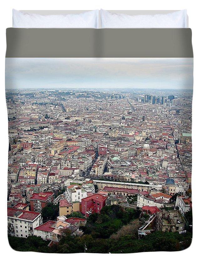 Naples Duvet Cover featuring the photograph Naples Italy by Brett Winn