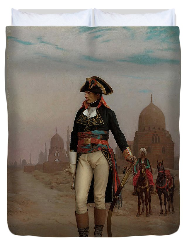 Napoleon Duvet Cover featuring the painting Napoleon In Egypt by Jean-Leon Gerome