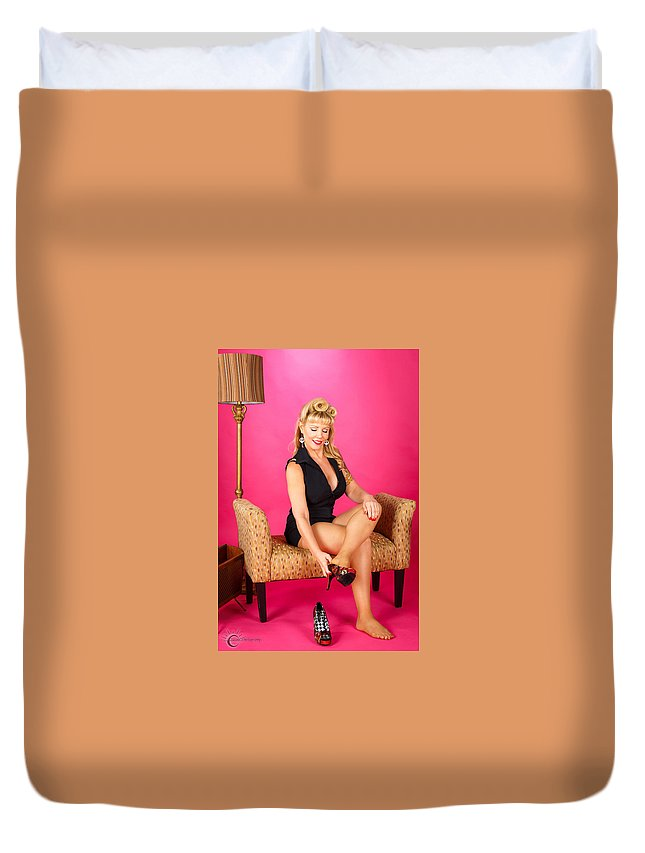 Sexy Duvet Cover featuring the photograph Pin Up #44 by Susan Sprague