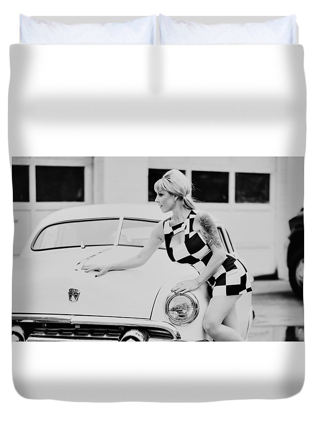 Sexy Duvet Cover featuring the photograph Pin Up #19 by Susan Sprague