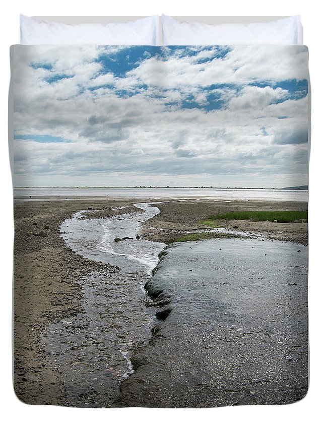 Plymouth Duvet Cover featuring the photograph Plymouth, Massachusetts, Beach by Michelle Himes