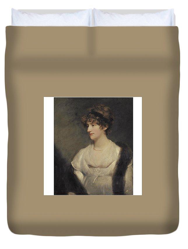 John Hoppner Duvet Cover featuring the painting Portrait Of Jane Frere by John Hoppner