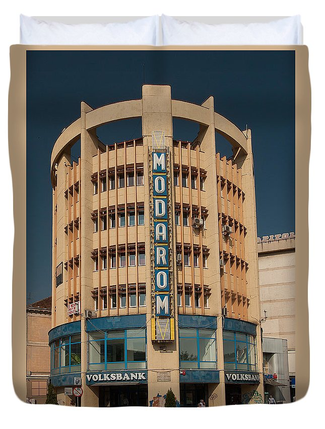 Brasov Duvet Cover featuring the photograph Socialistic Architecture by Christian Hallweger