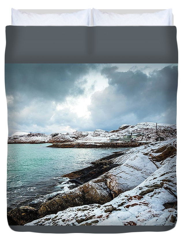 Sommaroy Duvet Cover featuring the photograph Sommaroy by Chantelle Flores