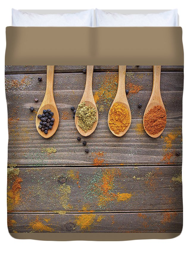 Spice Duvet Cover featuring the photograph Spices by Brenda Mardinly