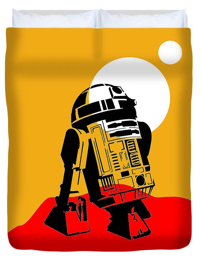 R2-d2 Duvet Cover featuring the mixed media Star Wars R2-d2 Collection by Marvin Blaine