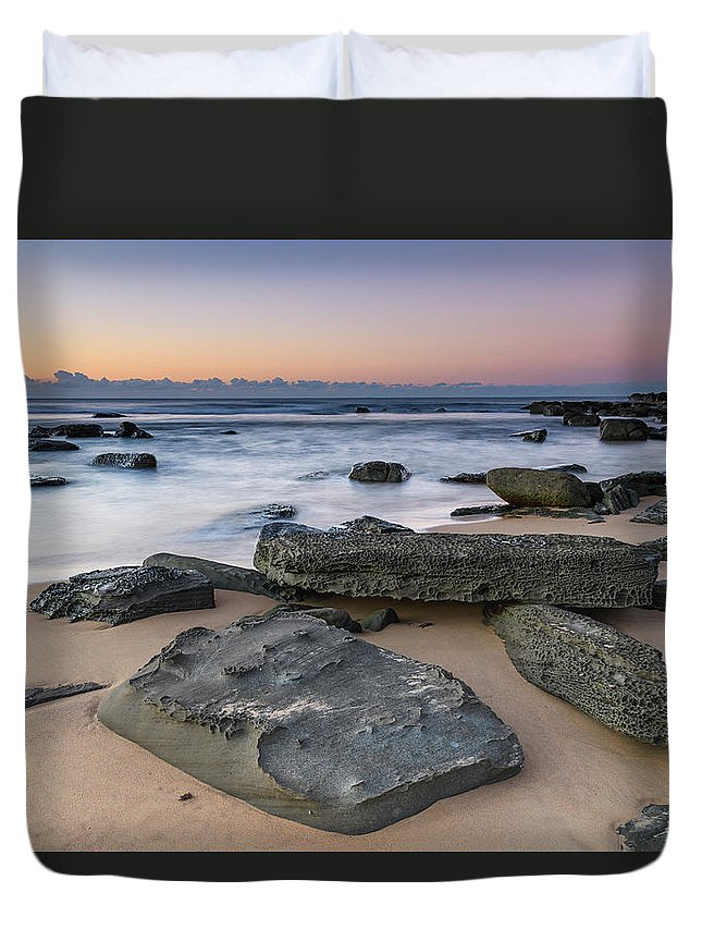 Australia Duvet Cover featuring the photograph Sunrise And The Sea by Merrillie Redden