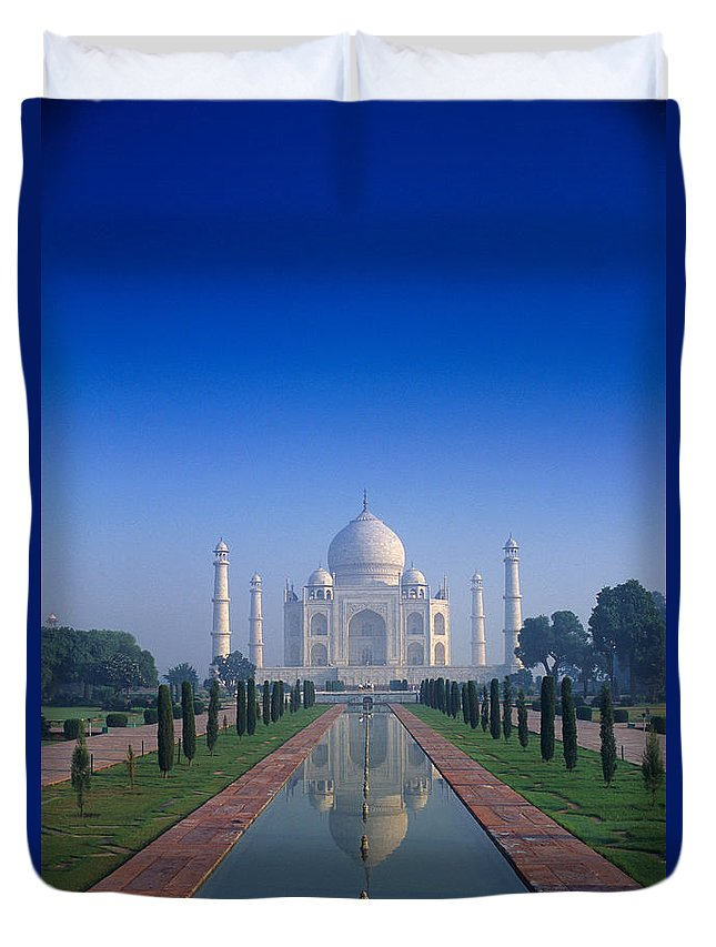 Agra Duvet Cover featuring the photograph Taj Mahal View by Gloria & Richard Maschmeyer - Printscapes