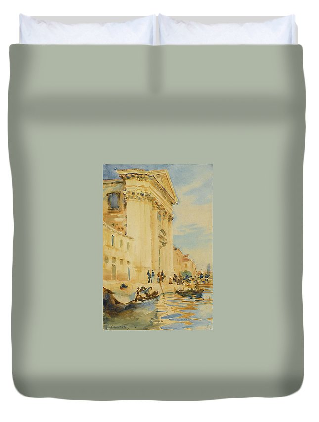 John Singer Sargent 1856 - 1925 I The Church Of The Gesuati Duvet Cover featuring the painting The Church Of The Gesuati by John Singer