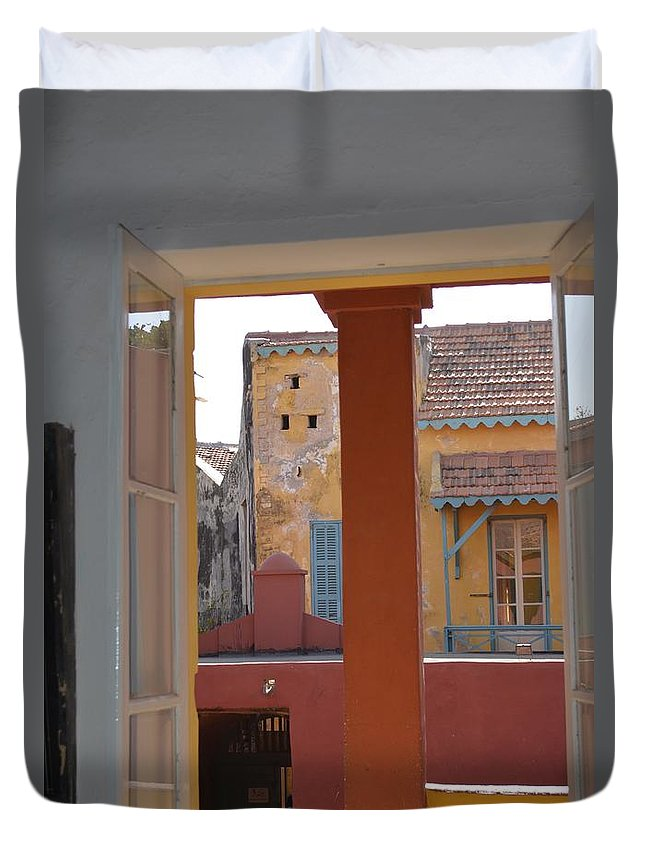 Buildings Duvet Cover featuring the photograph Untitled Building by Clifton Facey