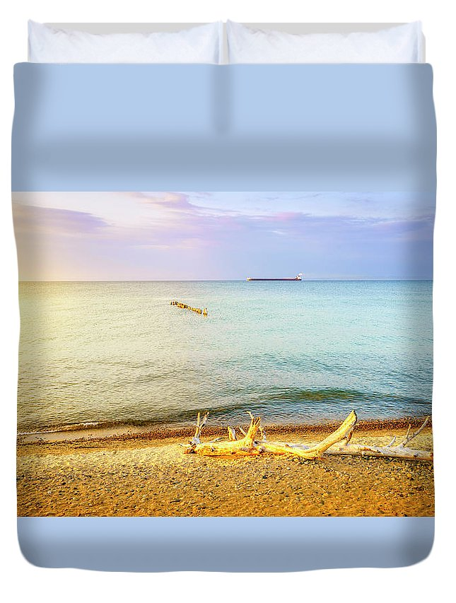 America Duvet Cover featuring the photograph Whitefish Point, Michigan by Alexey Stiop