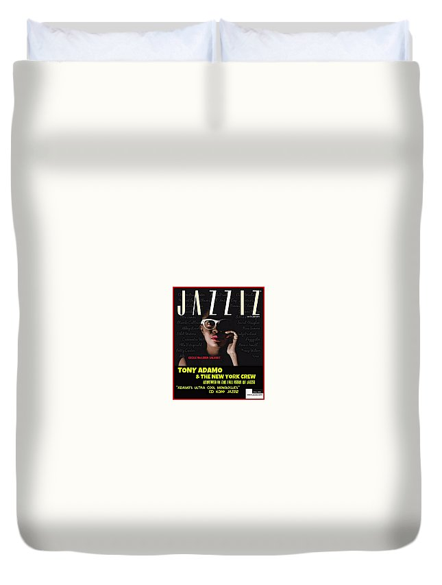Internet Music Poster Duvet Cover featuring the digital art Internet Music Poster by Tony Adamo