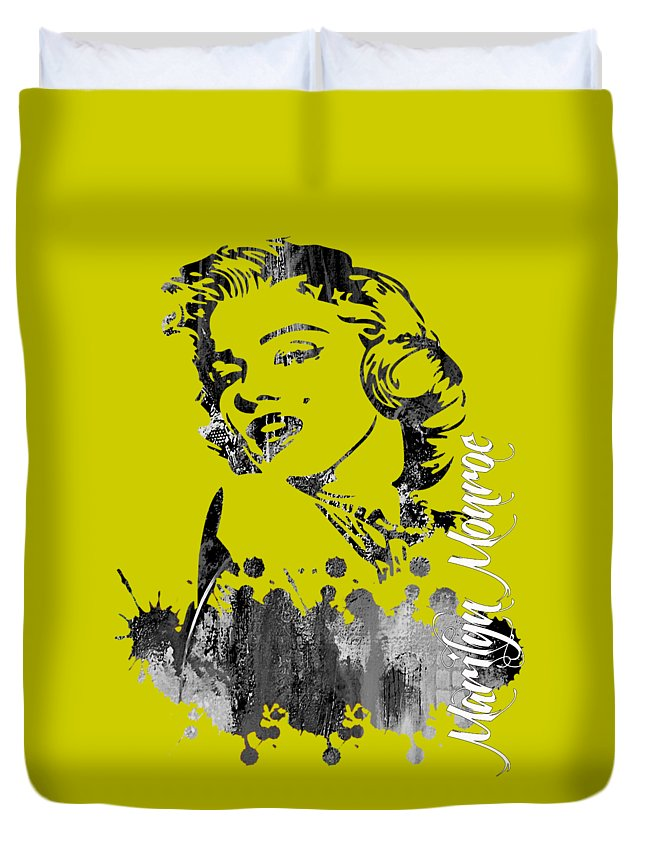 Marilyn Monroe Duvet Cover featuring the mixed media Marilyn Monroe Collection by Marvin Blaine